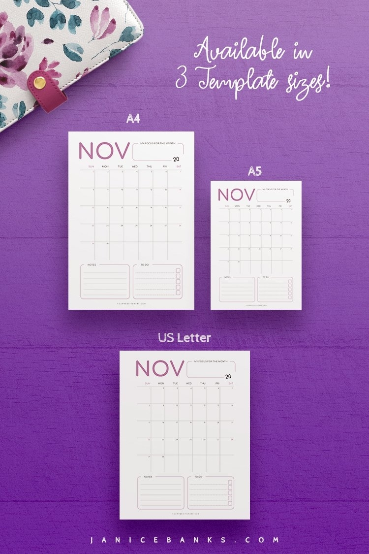 2021-2023 Calendar Indesign Template For Commercial Use (331928) | Customizable Templates