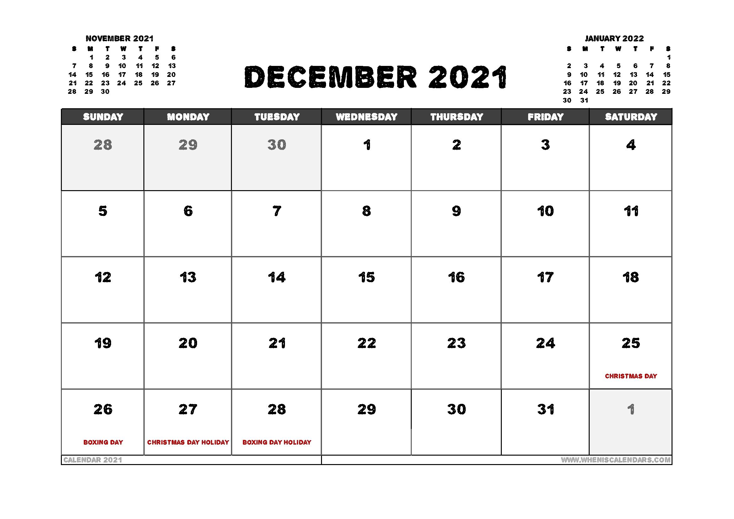 2021 Calendar Australia Printable | Printable Calendars 2021