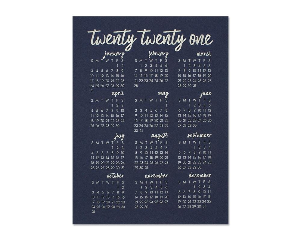 2021 Calendar   Modern Calligraphy Calendar   Bloom Letterpress & Design