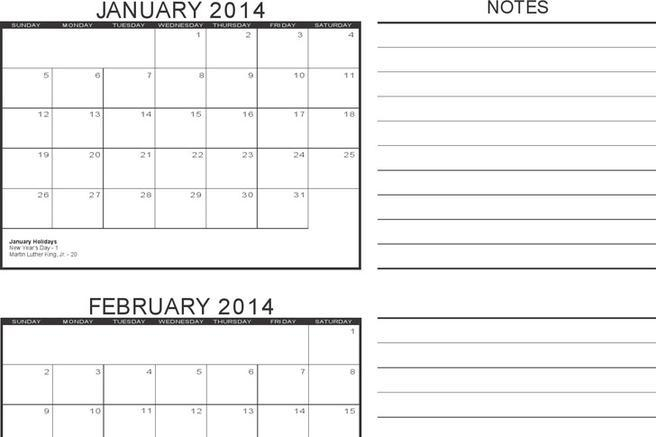 3+ 3 Month Calendar Template Free Download
