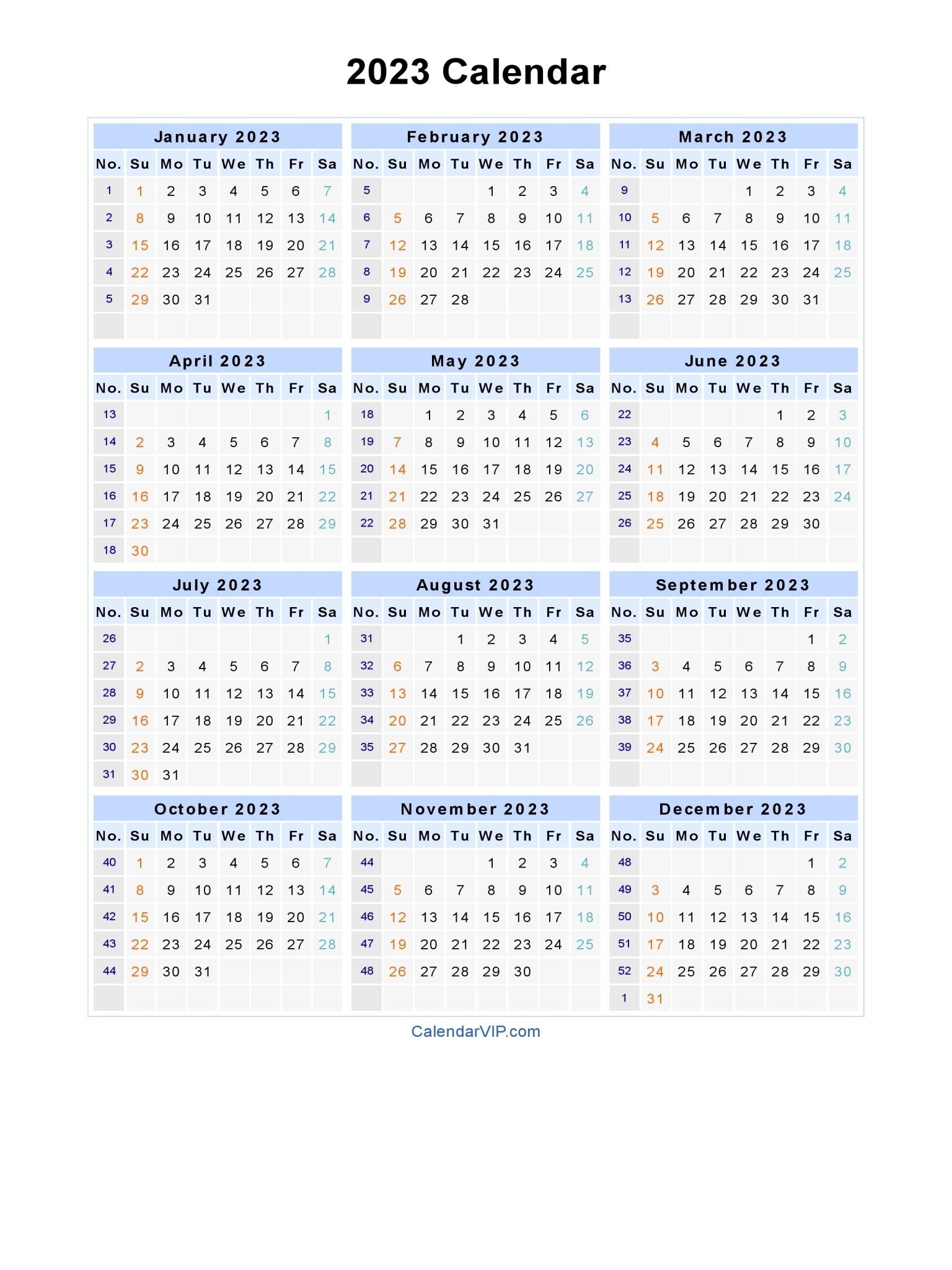 3 Year Calendar 2021 To 2023   Calendar Printables Free Blank