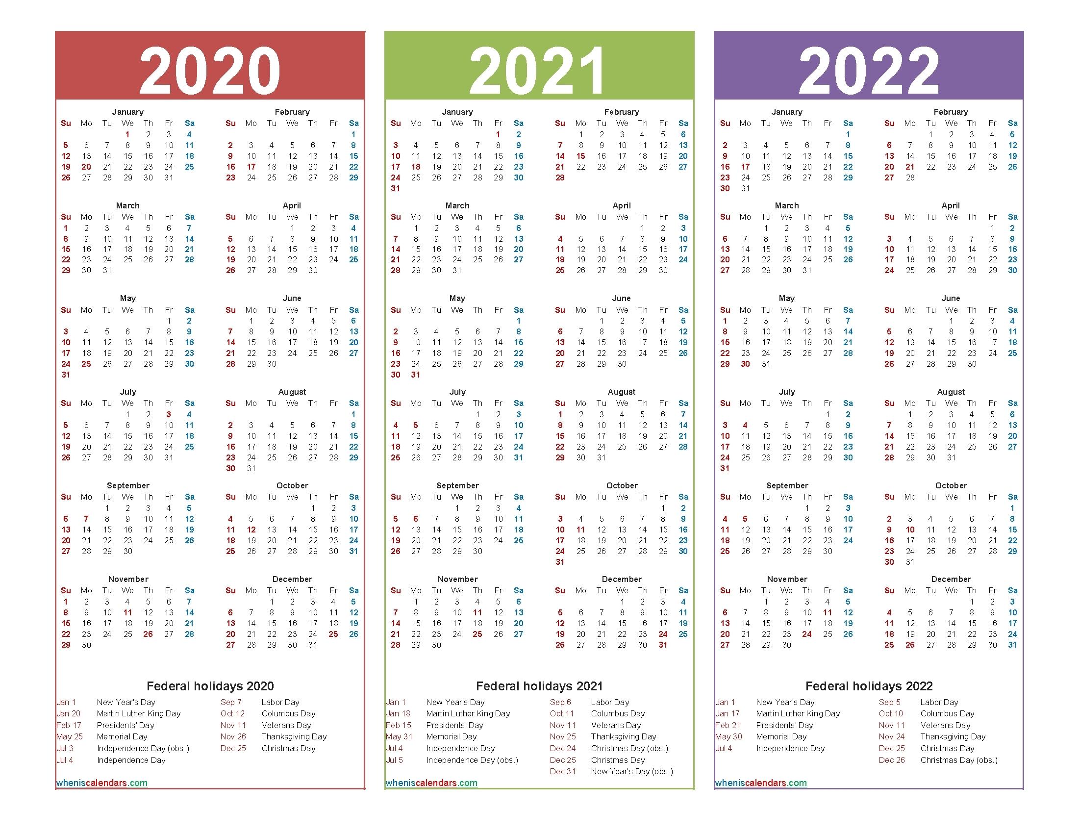 3 Year Calendar Printable 2021 2022 2023   Month Calendar Printable