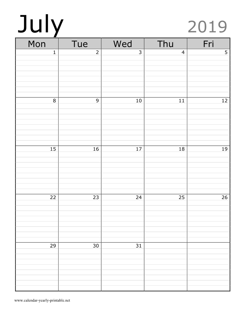 30 Amazing Portrait Calendar Template - Calendar Yearly Printable