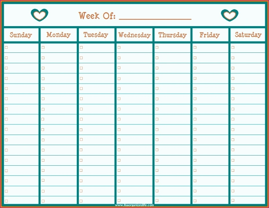 6 Planner Template Excel - Excel Templates