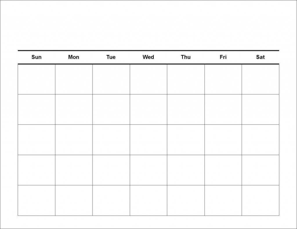 7 Day Blank Calander - Calendar Template 2021