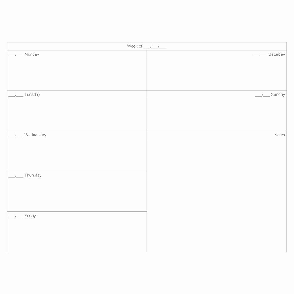 7 Day Calendar Template Elegant 7 Day Calendar Template In 2020   Day Planner Template, Calendar