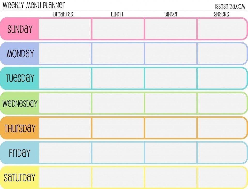 7 Day Calendar Template Fillable - Calendar Inspiration Design