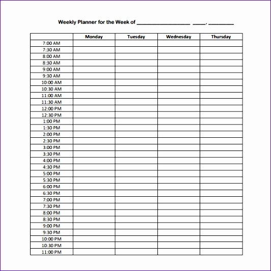 7 Excel 24 Hour Schedule Template - Excel Templates