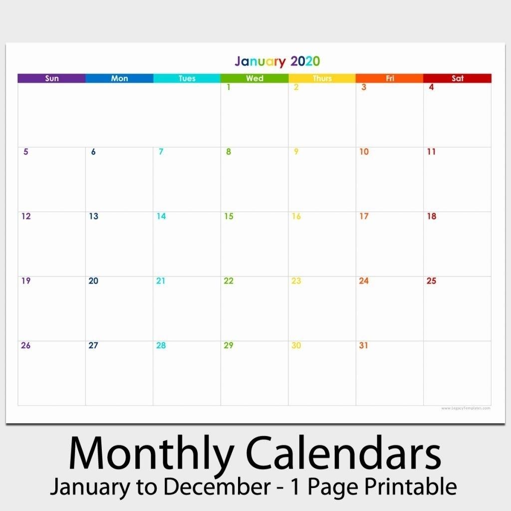 8.5 X 11 Printable Calendars   Calendar Printables Free Blank