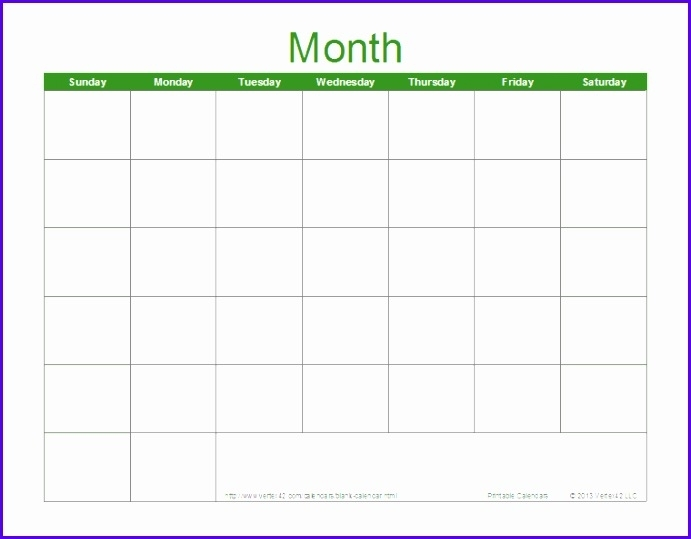 9 Download Calendar Template Excel - Excel Templates - Excel Templates