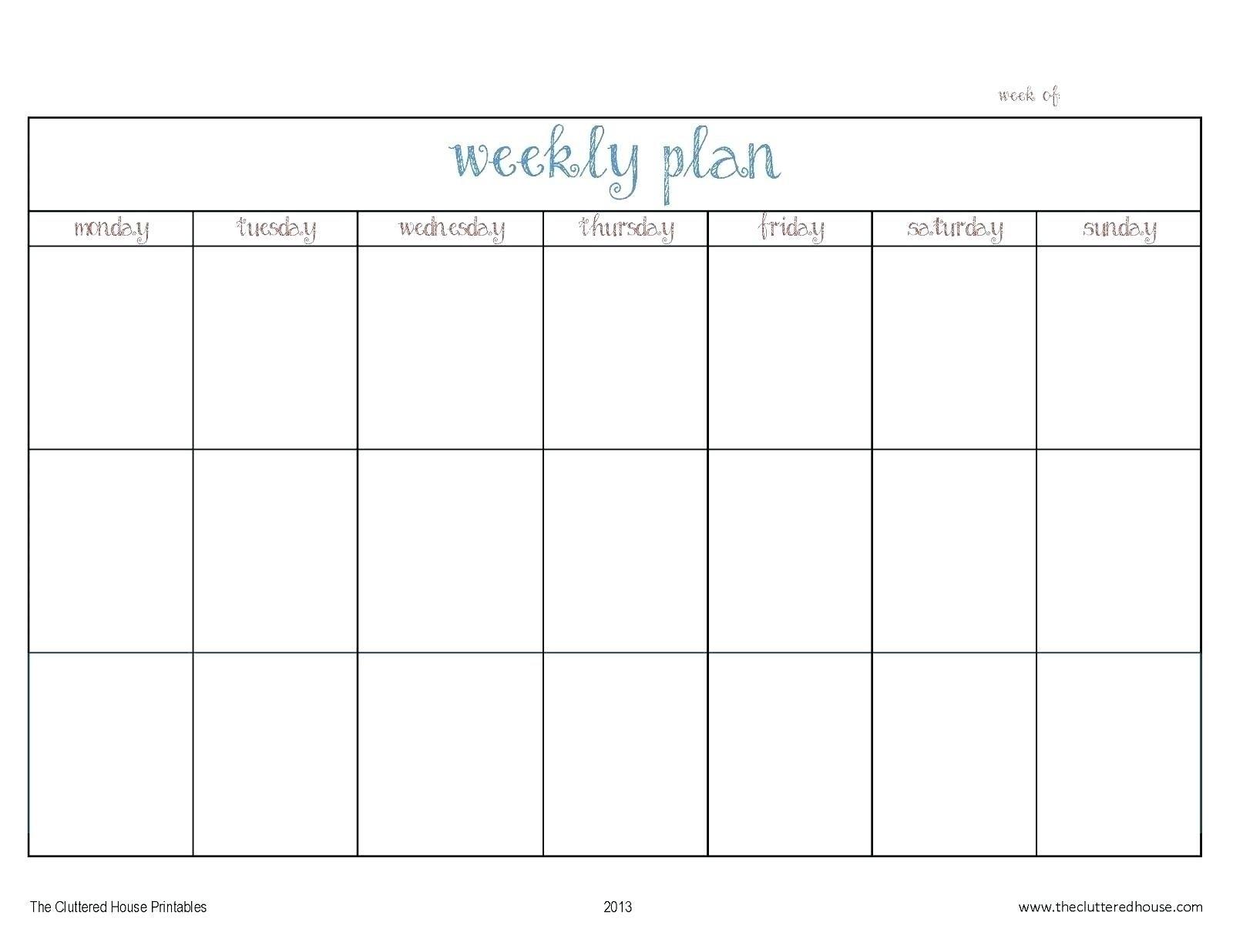 Agenda Monday To Friday   Ten Free Printable Calendar 2020-2021