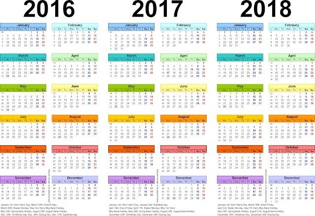 Awesome Printable 5 Year Calendar - Pleasant To Be Able To The Blog Site, Within This Time