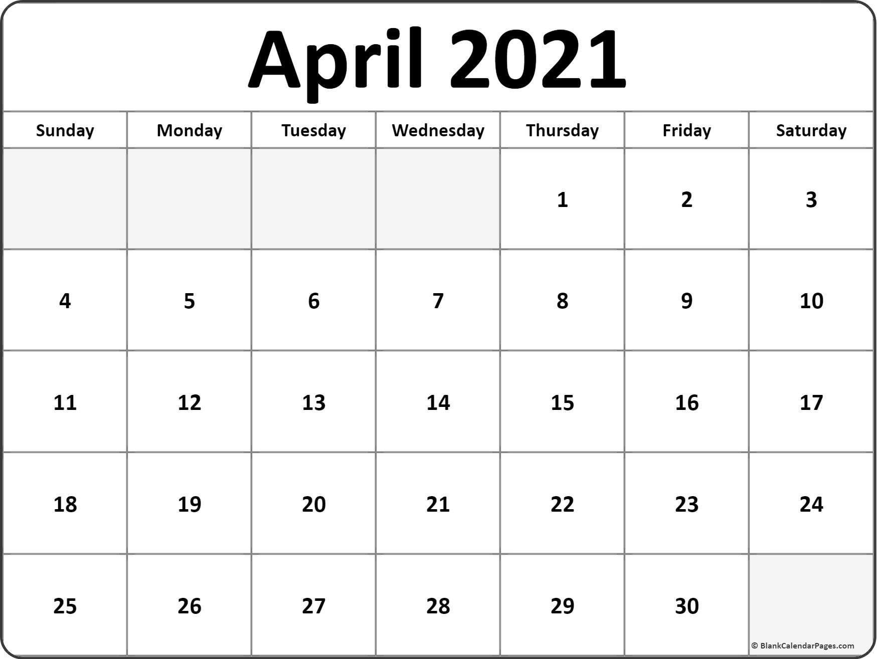 Blank Calendar You Can Type On 2021 - Example Calendar Printable