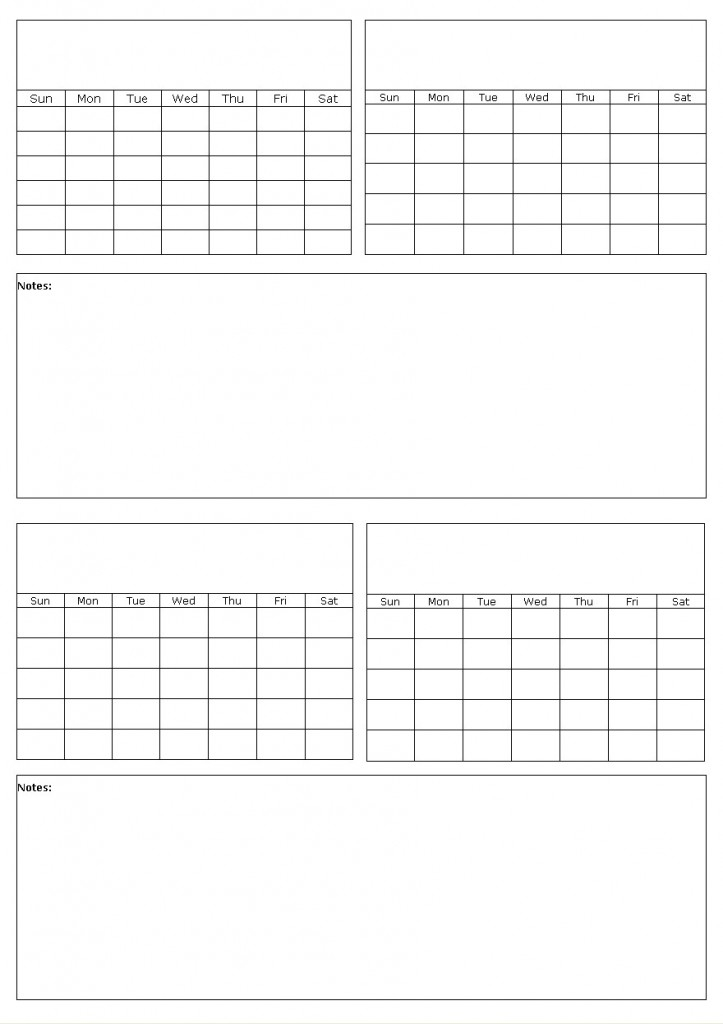 Blank Calendars To Fill-In, Calendar Grid Templates To Print And Type On