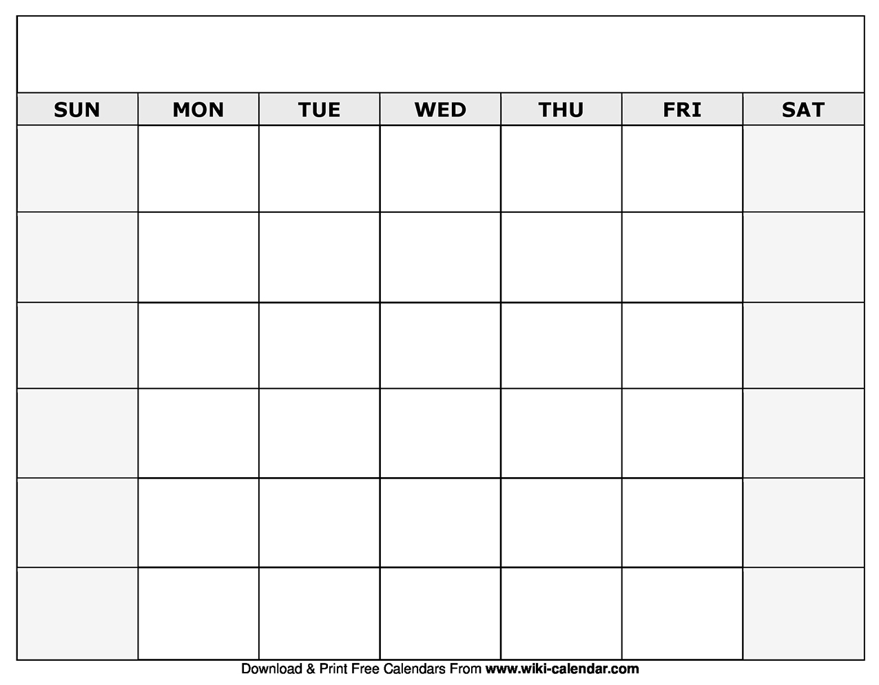 Blank Monthly Calendars To Print - Calendar Inspiration Design