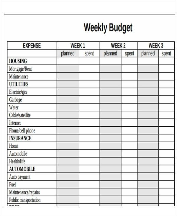 Budget Calendar Template - Wanew
