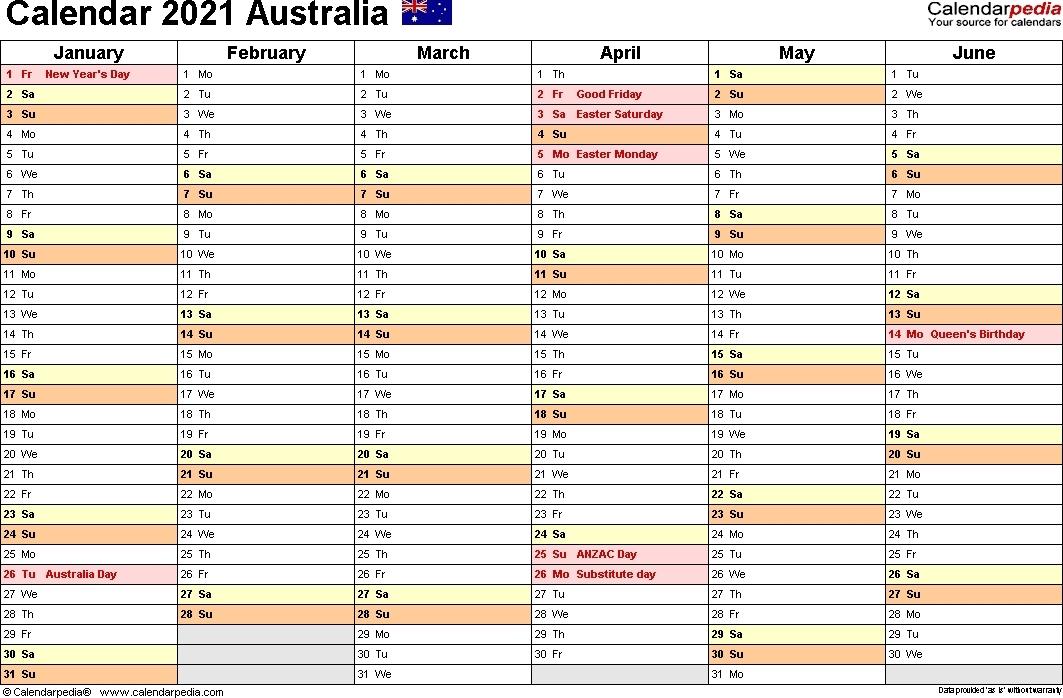 Calendar 2021 Australia | Calvert Giving