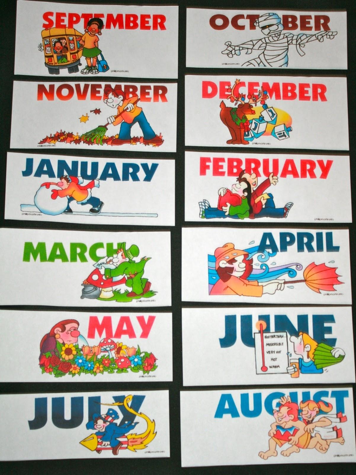 Calendar Cards - Classroom Freebies