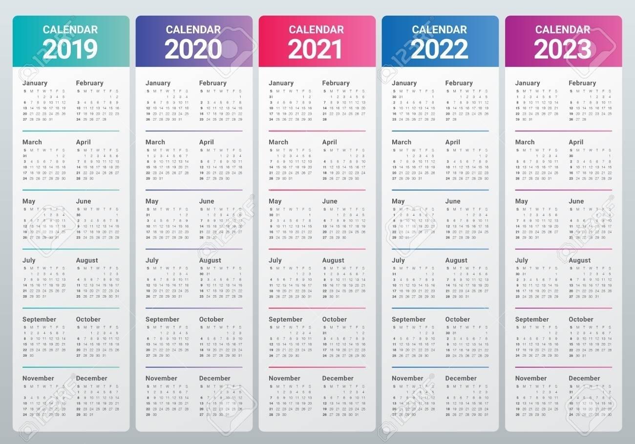 Calendar For 2021 2022 2023 - Calendar Inspiration Design