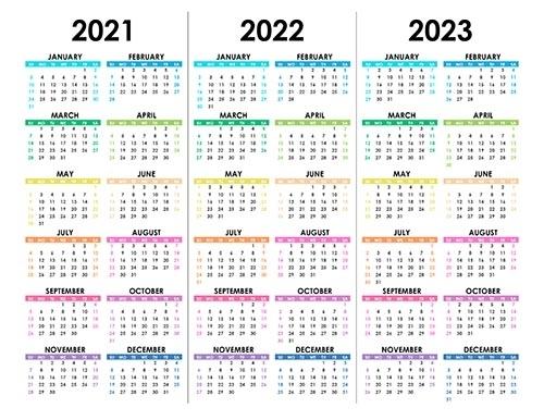 Calendar For 2021, 2022, 2023 - Free-Calendar.su