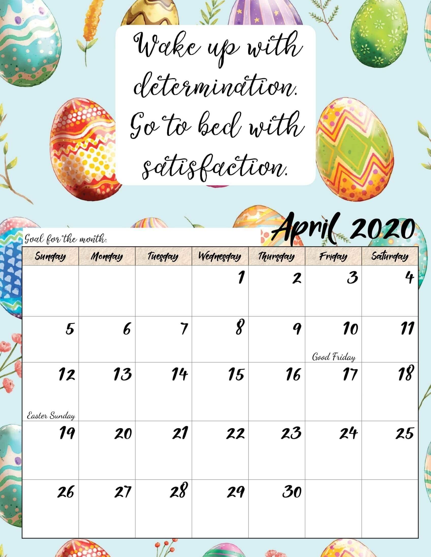 Calendar For April 2020 Printable Template - 2019 Calendars For Students Education Calendar For