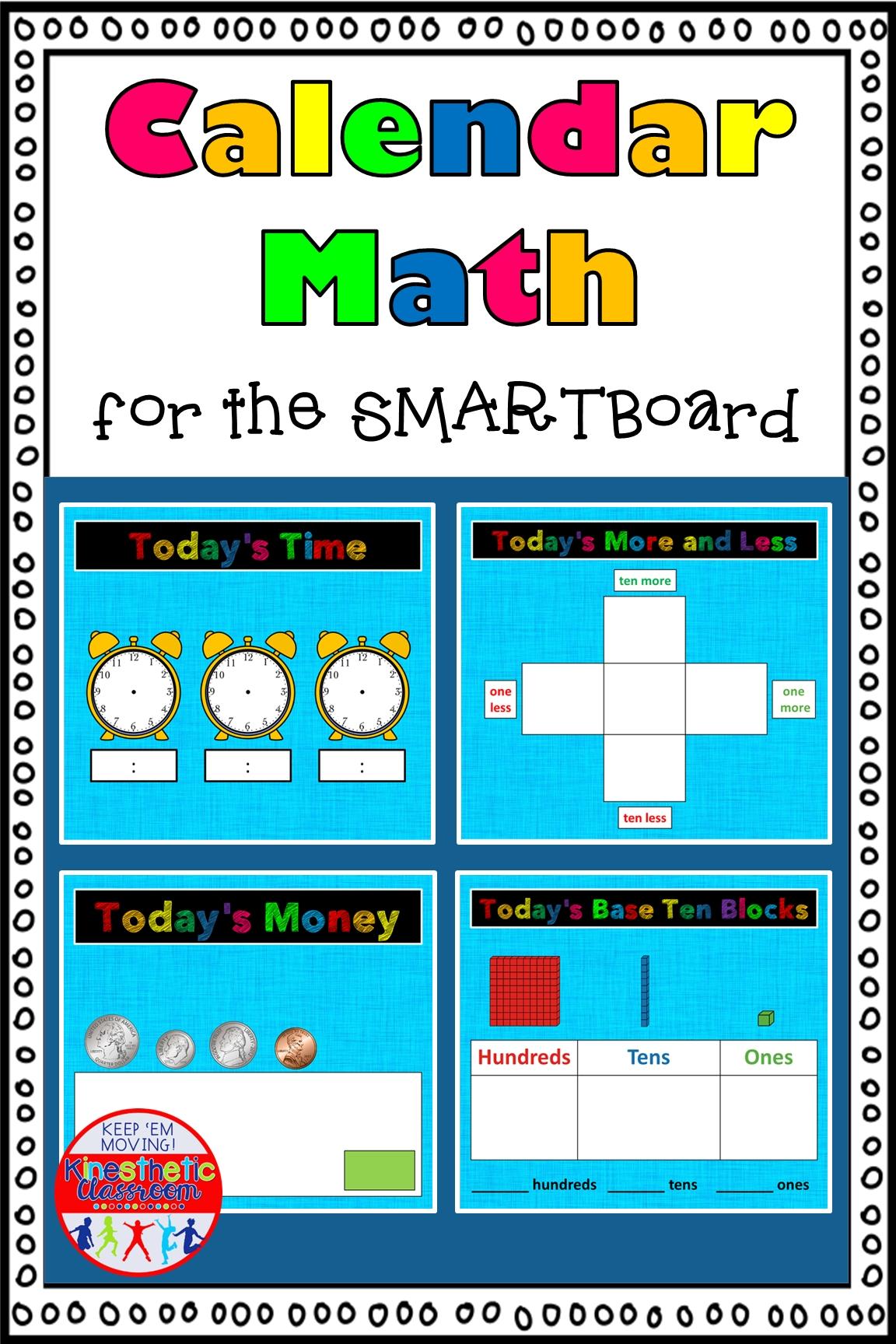 Calendar Math For The Smartboard | Calendar Math, Smart Board Lessons, Smart Board
