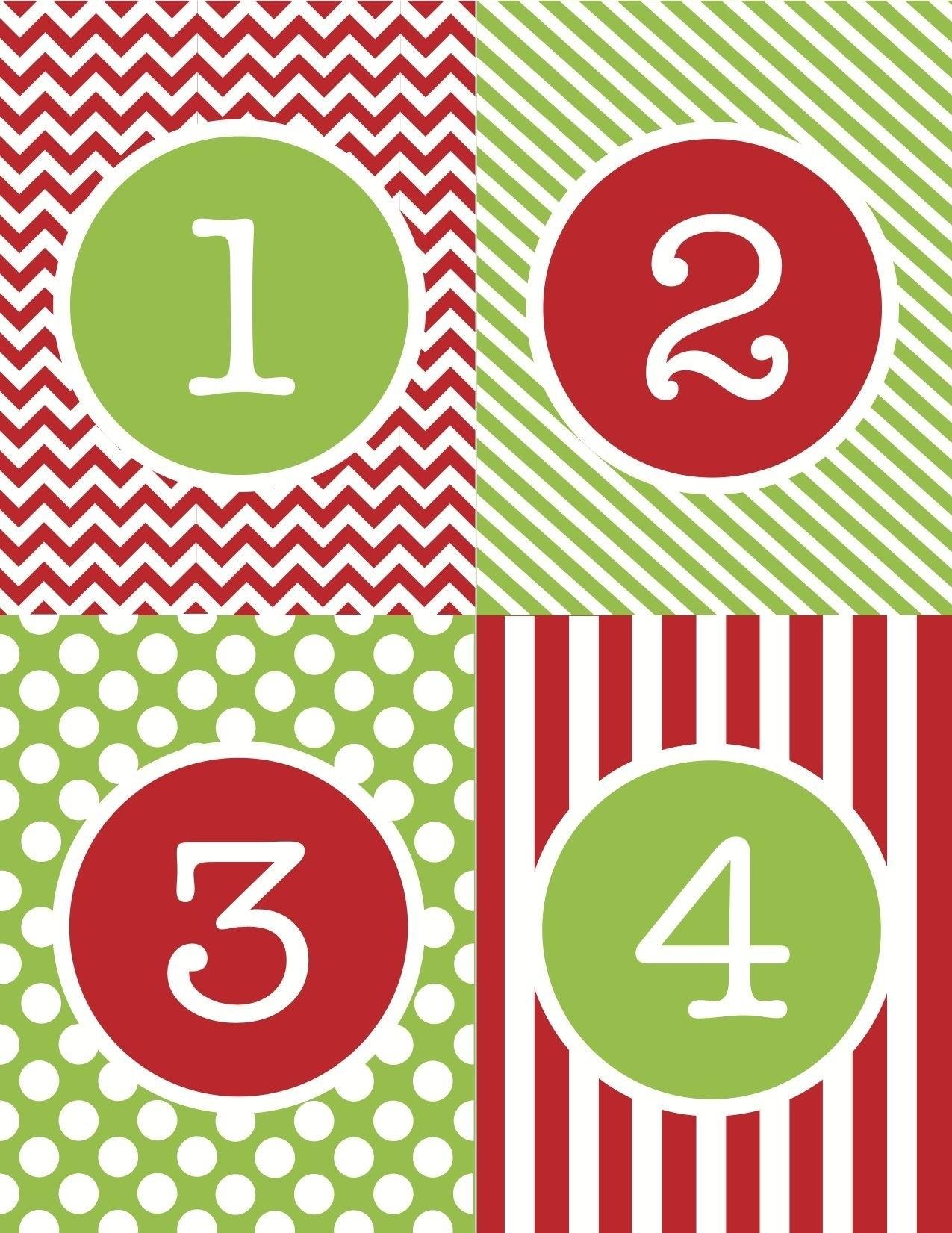 Calendar Numbers 1-31 For Spring :-Free Calendar Template