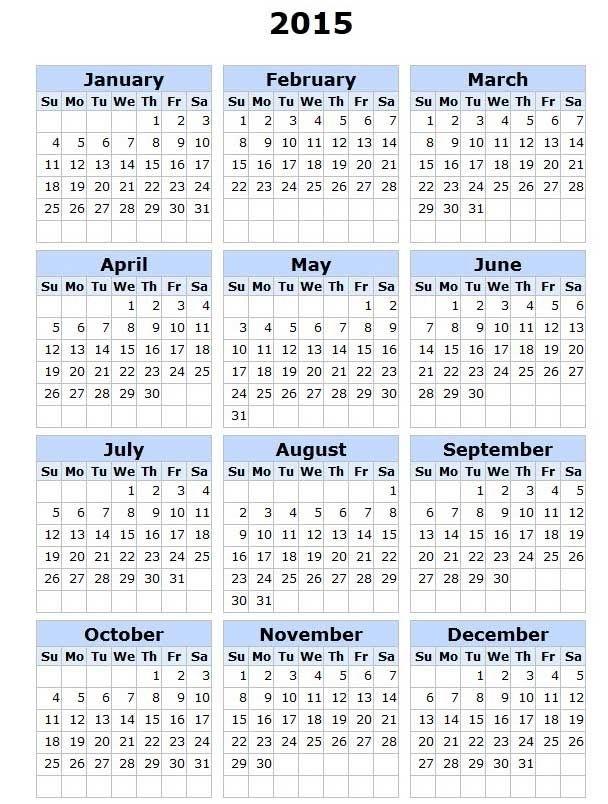 Calendar Of 2015 | Calendar Template, 2015 Calendar Printable, Calendar Printables