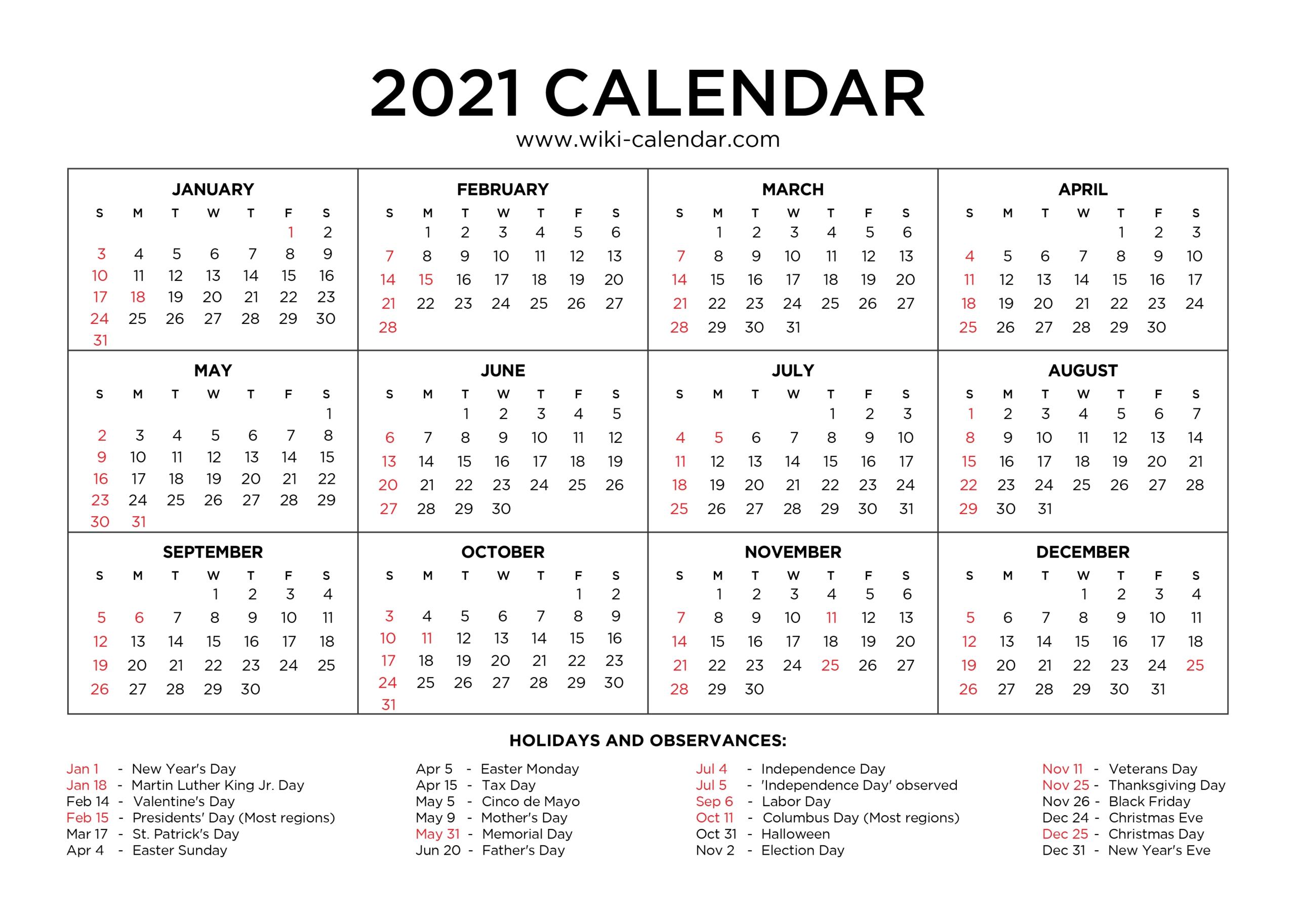Calendar Of Just Weekends For 2021   Calendar Printables Free Templates