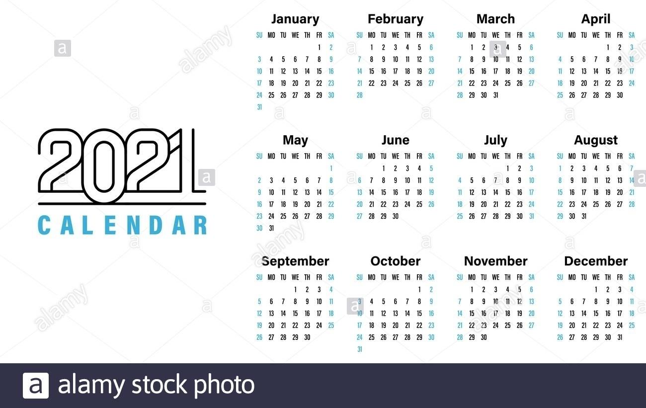 Calendar Of Weekends Only 2021   Month Calendar Printable