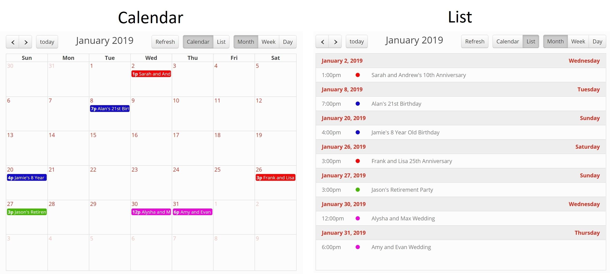 Calendar | Tadabase