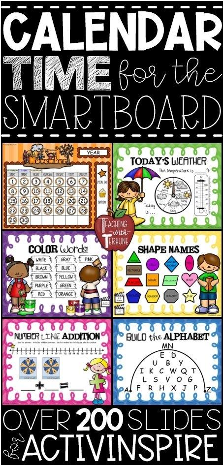 Calendar Time For The Smartboard #Calendartime #Calendarmath #Morningcalendarroutine #