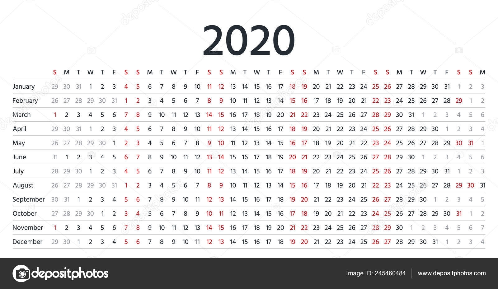 Calendario 2020 Organizador - Calendario 2019