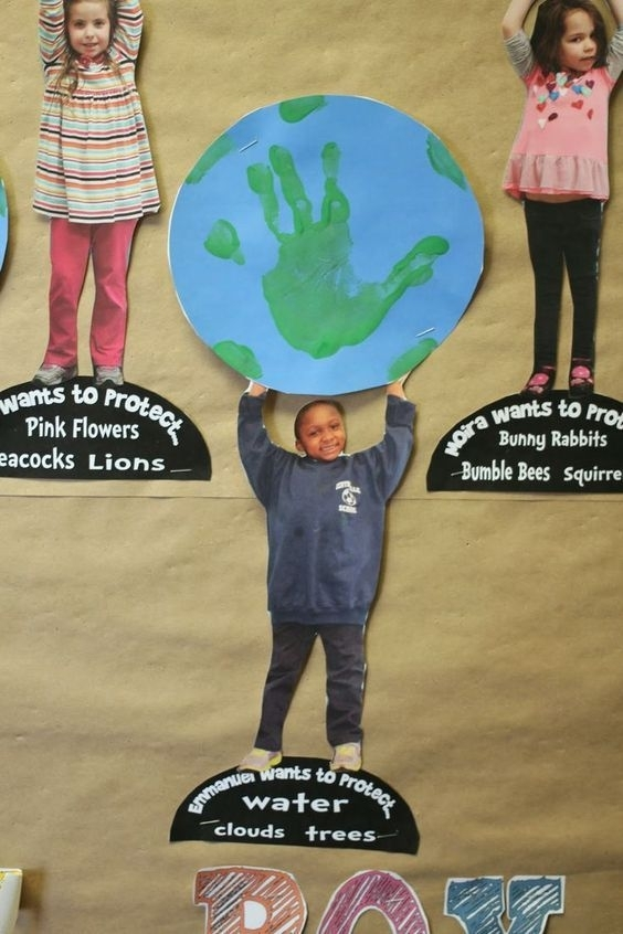 Celebrating Earth Week. What Do You Want To Protect Most? A Handprint Activity Great For