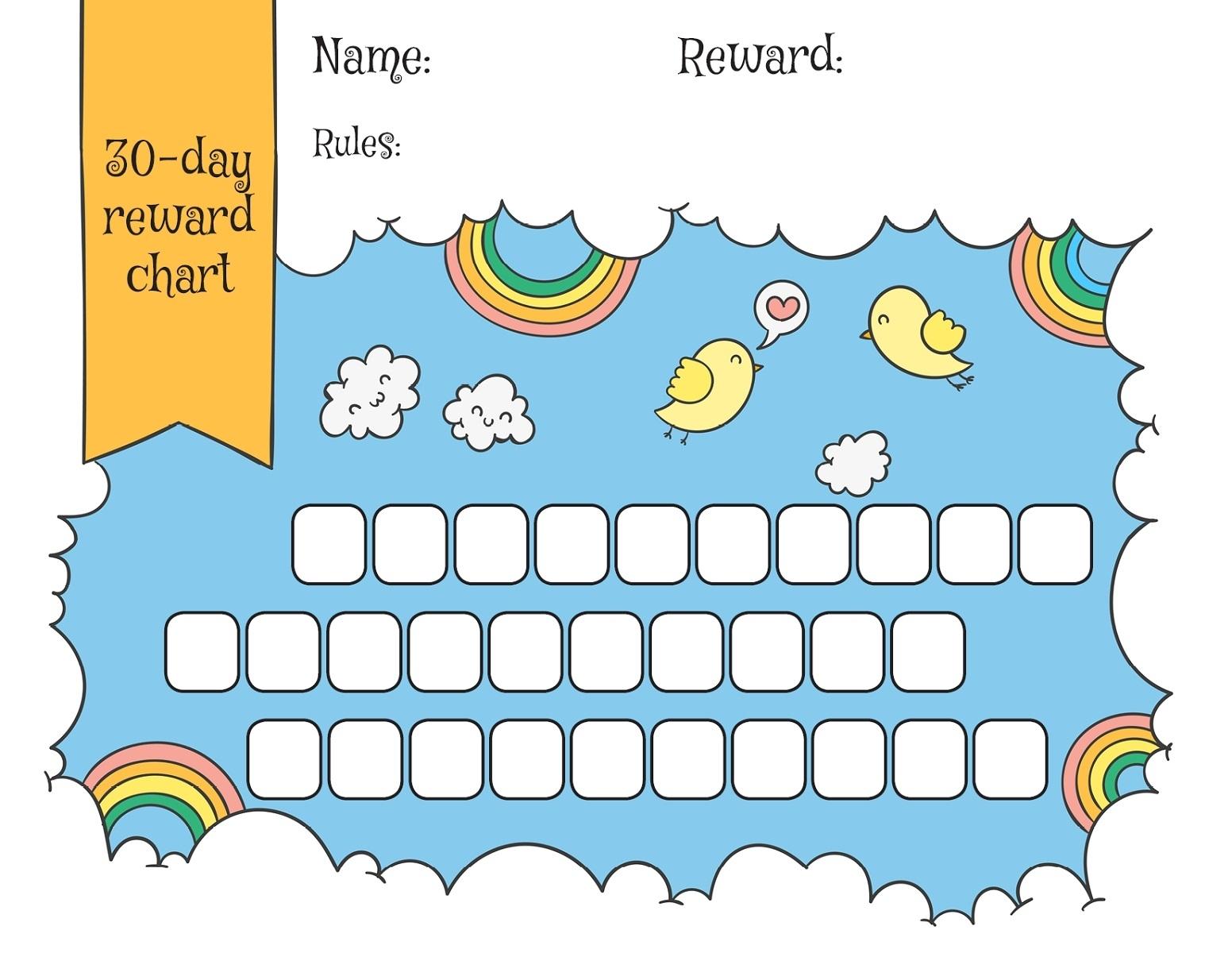 Children Reward Chart Templates   101 Activity