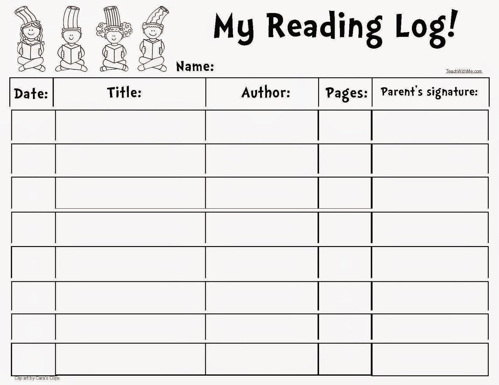Classroom Freebies: Seuss-Themed Reading Log