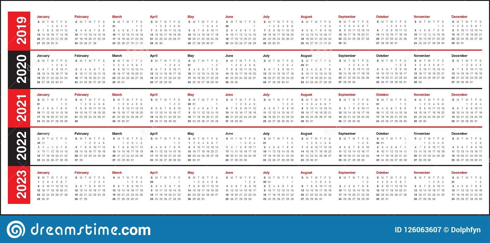 Collect Three Year Calendar 2020 2021 2022 | Calendar Printables Free Blank