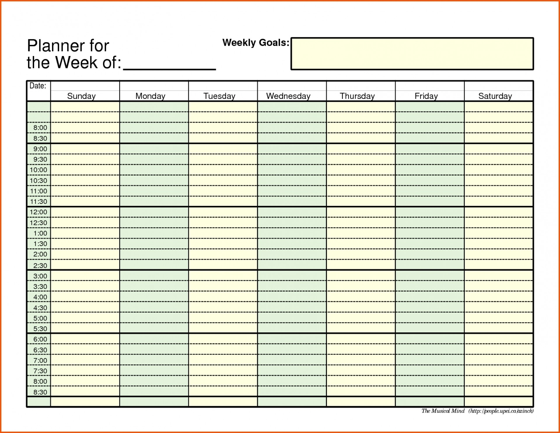 Daily Schedule With Time Slots - Calendar Inspiration Design
