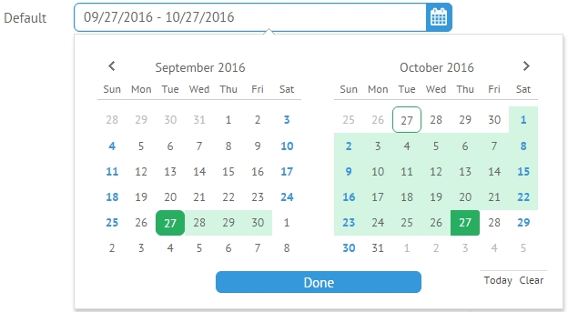 Daterangepicker, Ui Controls Webix Docs