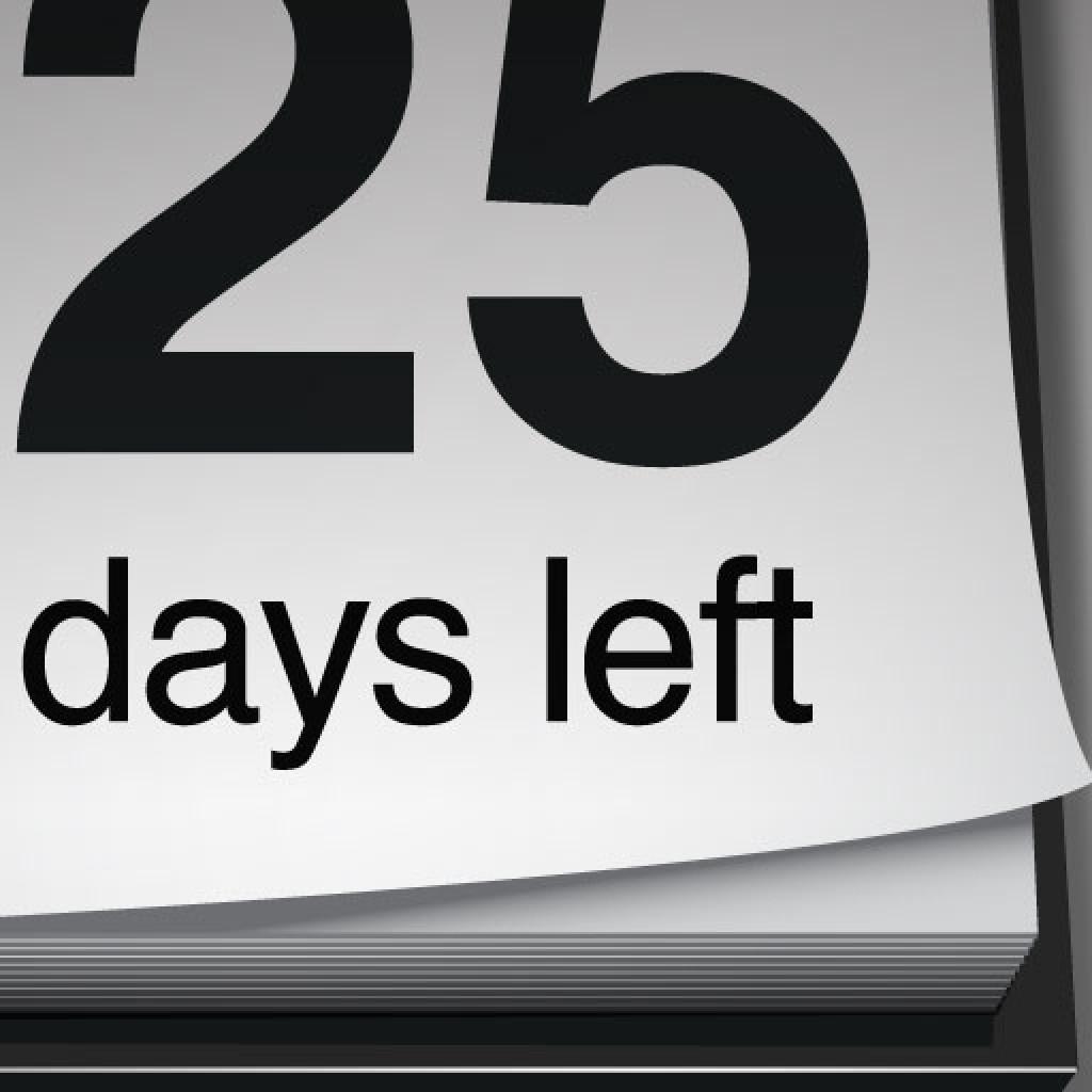 Days Left To Retirement Calendar - Calendar Template 2021