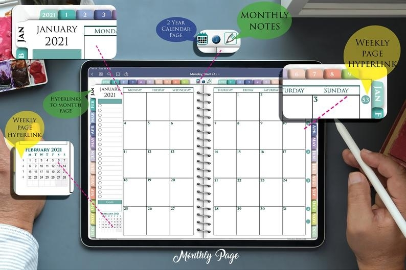 Digital Weekly Planner 15 Minute Increments Hourly For Ipad | Etsy