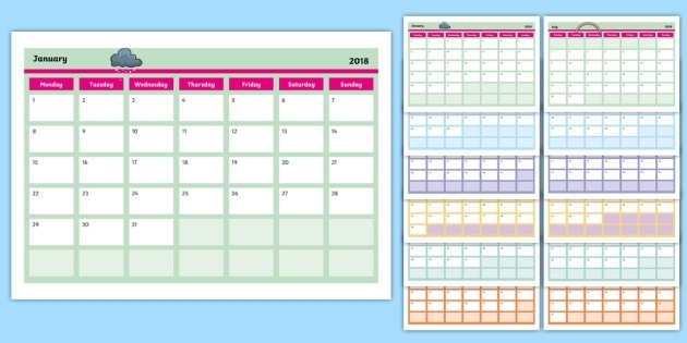 Editable Calendar - Editable, Calendar, Edit, Year, Months