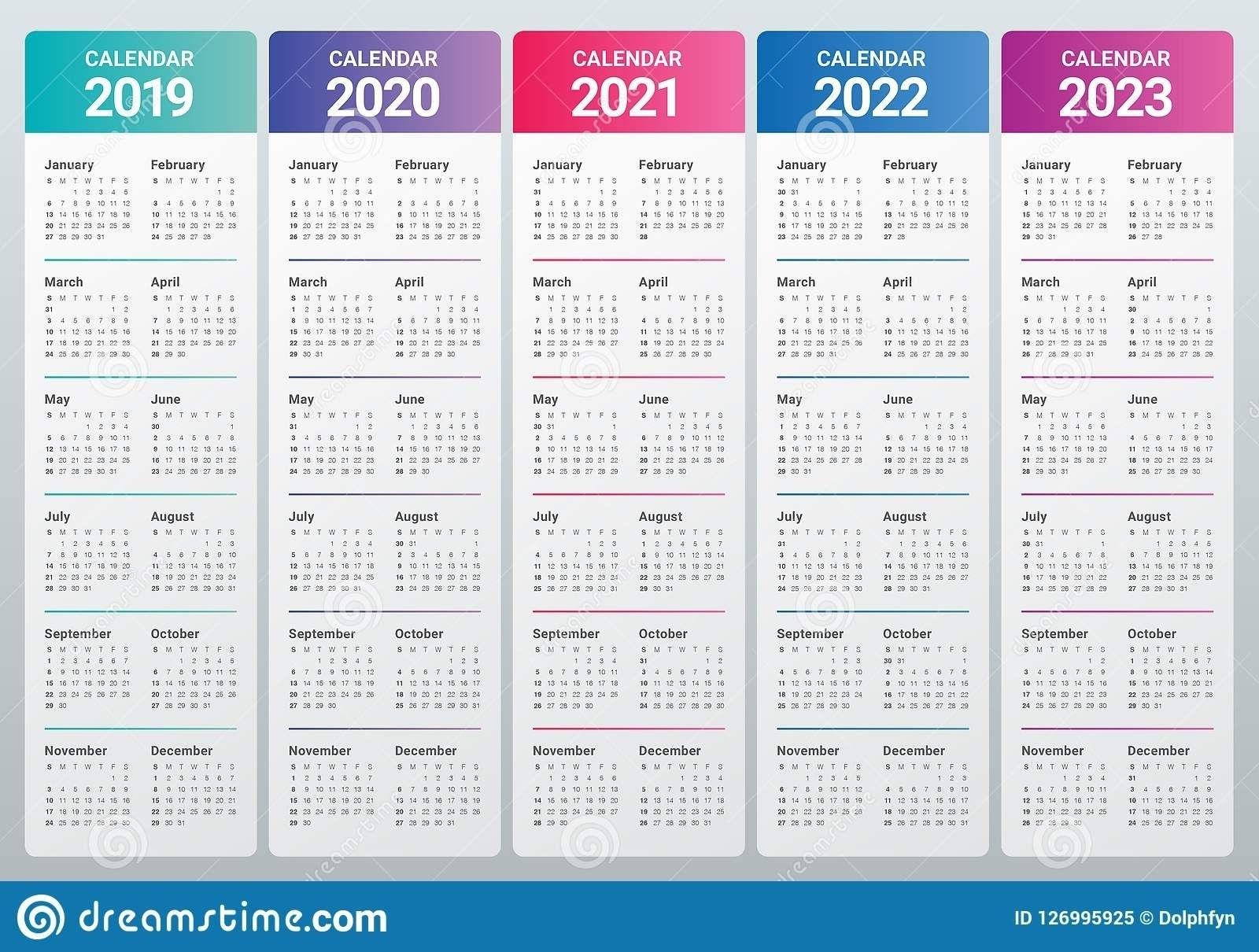 Effective Free Printable 5 Year Calendar   Get Your Calendar Printable