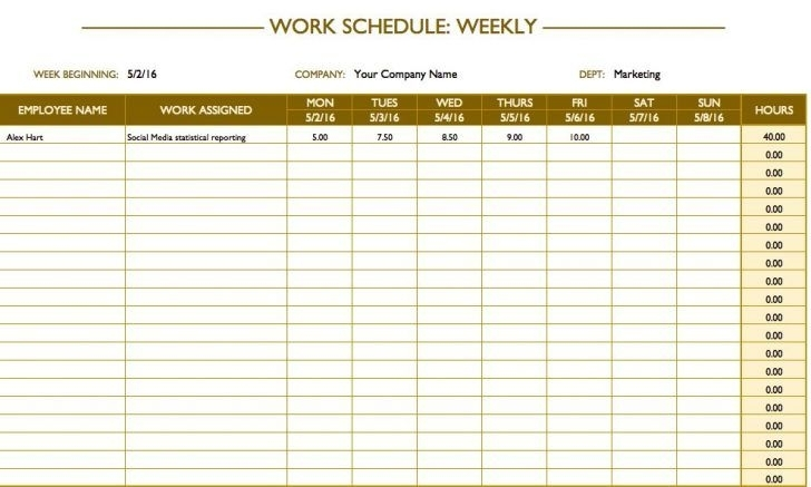 Excel Weekly Hourly Schedule Template   Schedule Templates, Weekly Schedule Template Excel
