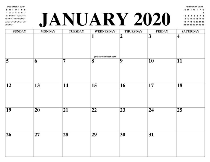 Exceptional Free Very Large Squares Blank Printable Calendar 2020 Monthly | Calendar Printables