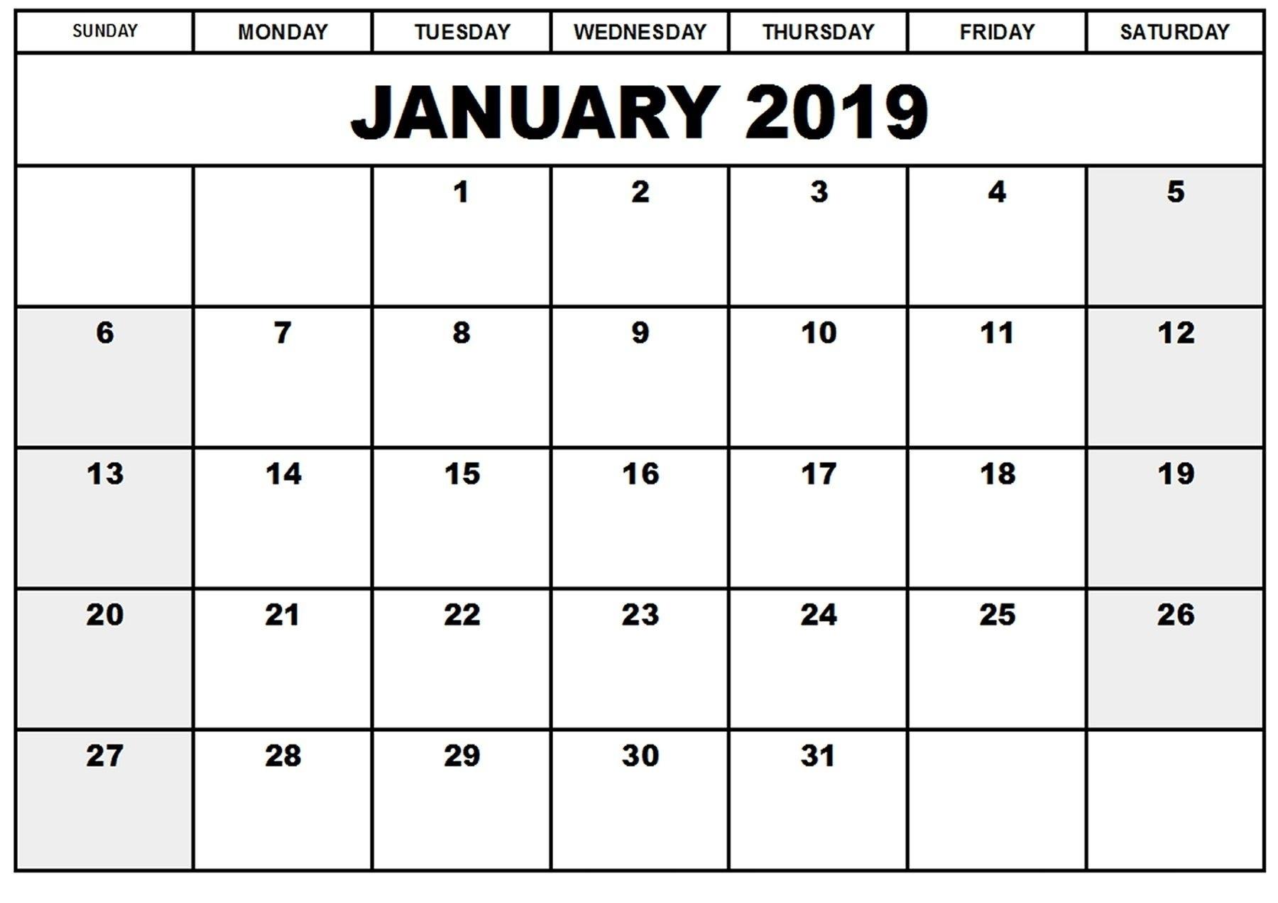 February 2019 Calendar Waterproof   Qualads
