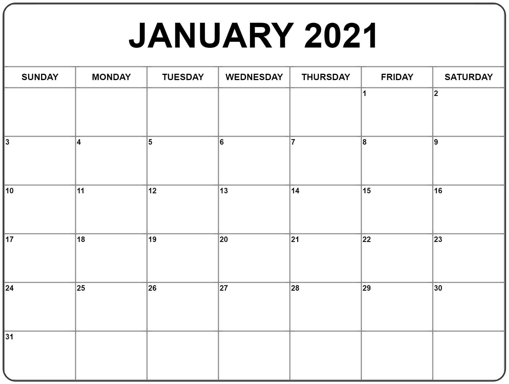 Free 2021 Printable Monthly Calendar With Holidays Word Pdf Landscape | Calendar Printables