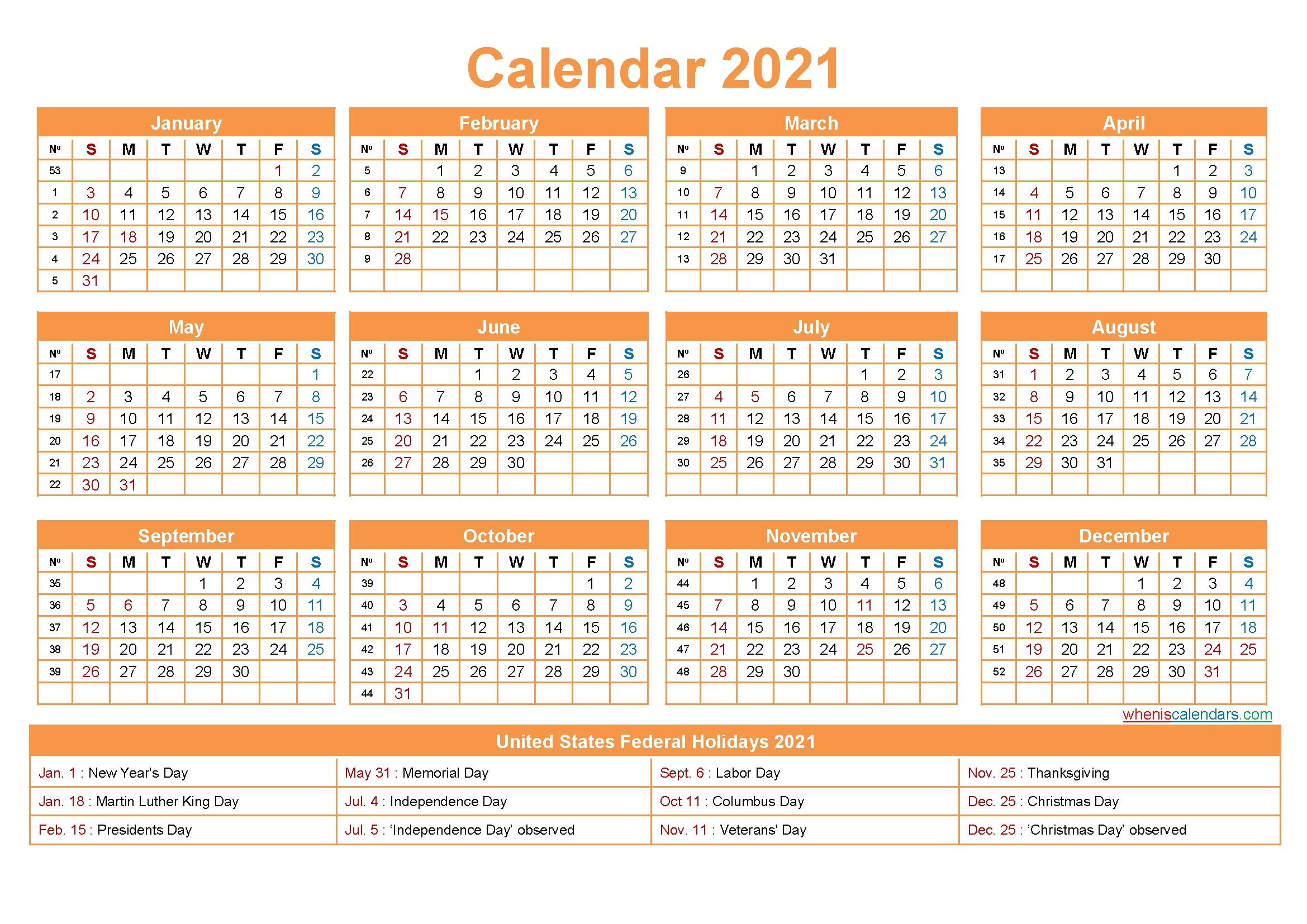 Free Downloadable 2021 Word Calendar - Take 2021 Printable Calendar Free | Calendar Printables