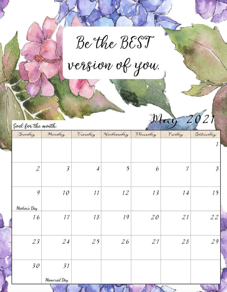 Free Printable 2021 Monthly Motivational Calendars   Printable Calendar Template, Calendar