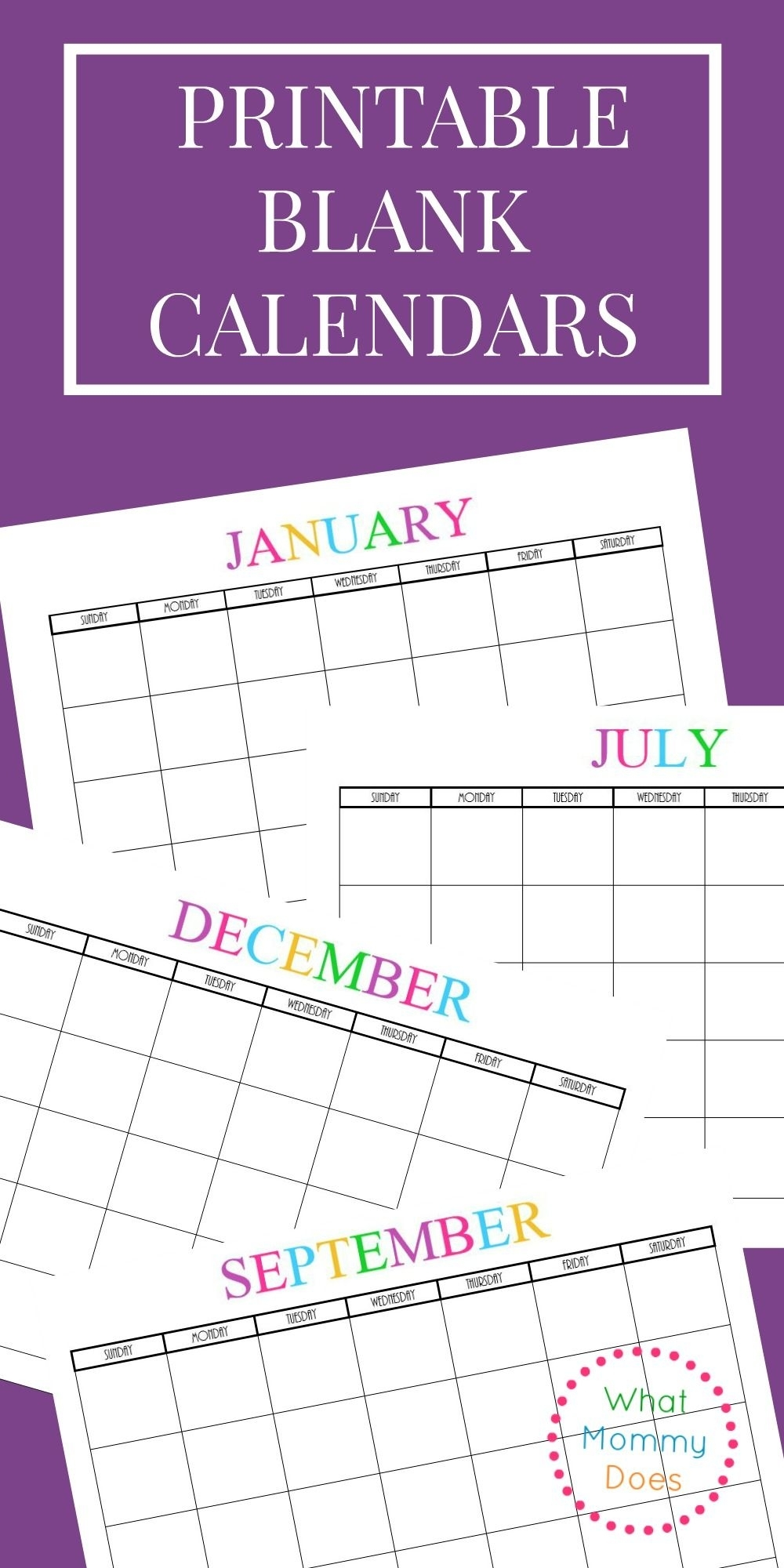 Free Printable Blank Monthly Calendars - 2019, 2020, 2021, 2022+   Blank Monthly Calendar